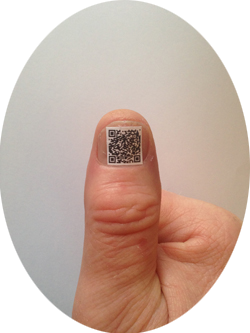 QR Thumb oval